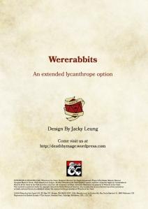Wererabbit Cover