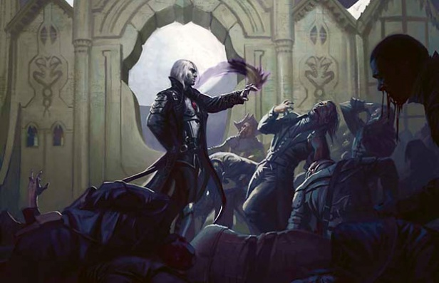 A vampire mage using blood spells, Image by Wizards of the Coast