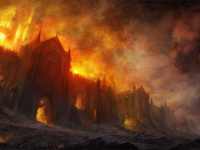 The city was aflame, the sound of distant fires and explosions could be heard districts away...