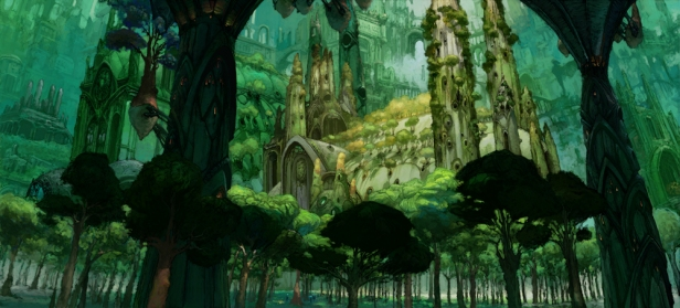 An elven city nestled within the Feywild, Image by Wizards of the Coast