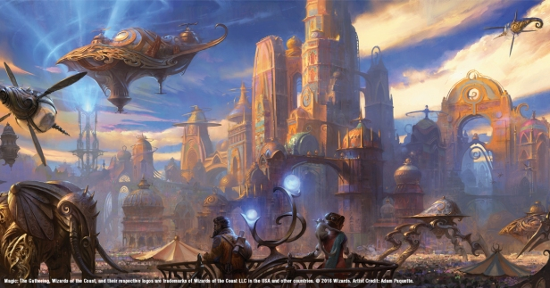 The sprawling world of Kaladesh, Image by Wizards of the Coast