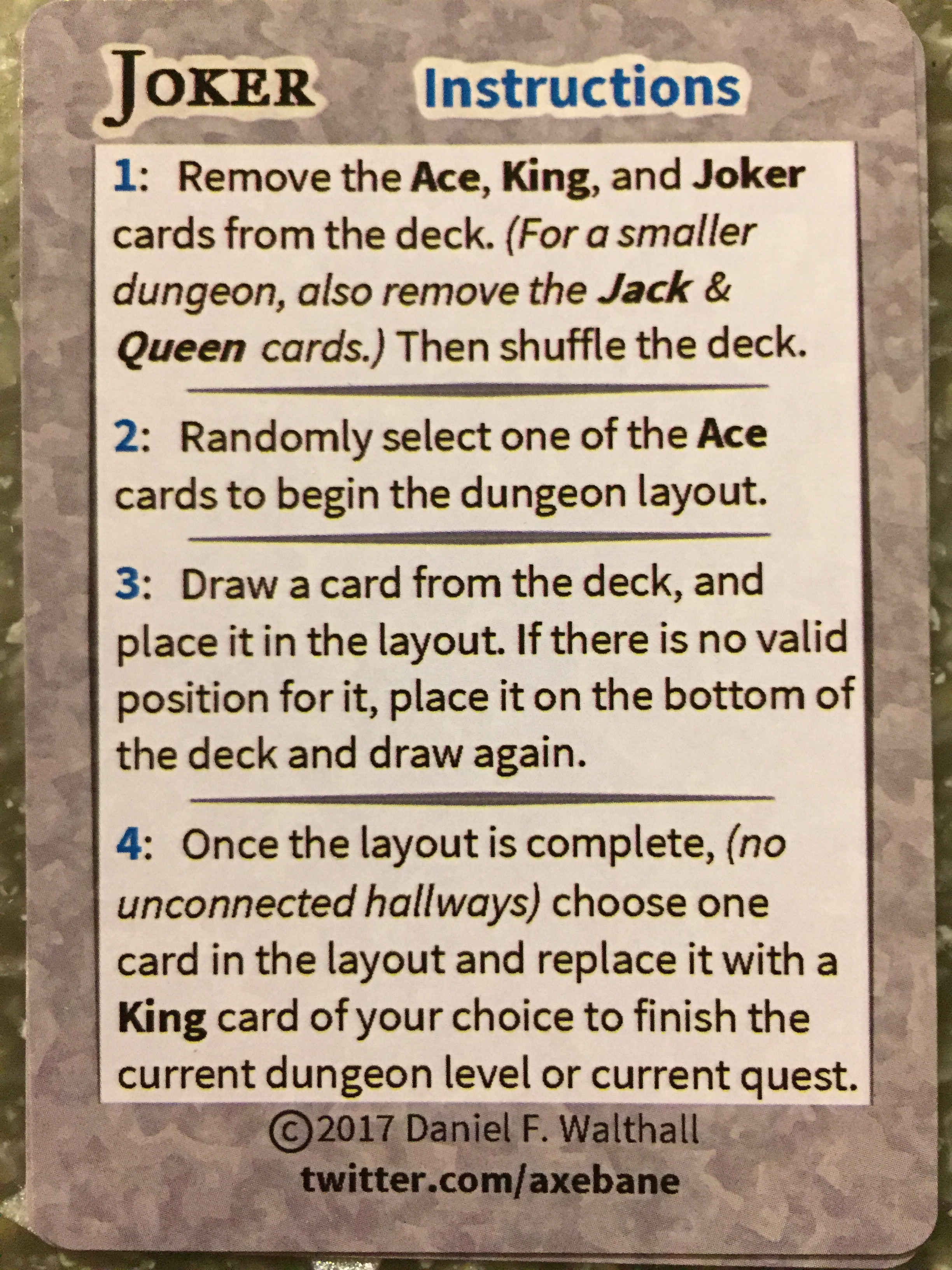 Death By Review] Need instant dungeons? Try a Deck of Many