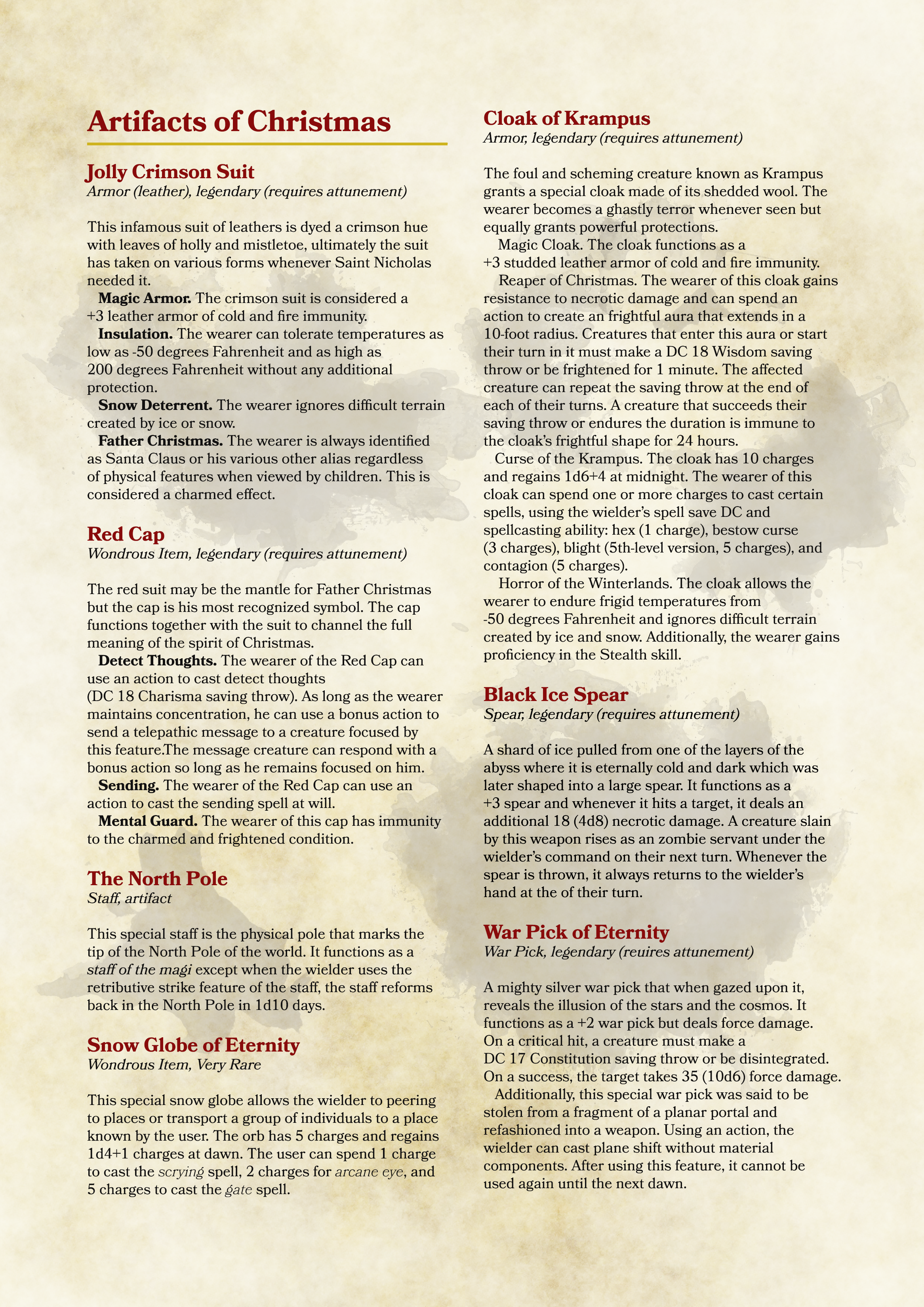 Santa Claus – Naughty and Nice D&D 5E Warlock Edition! – Death By Mage